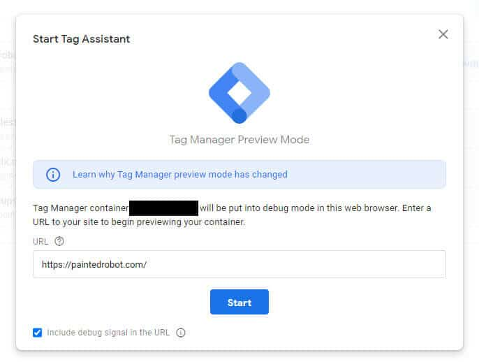 start tag assistant